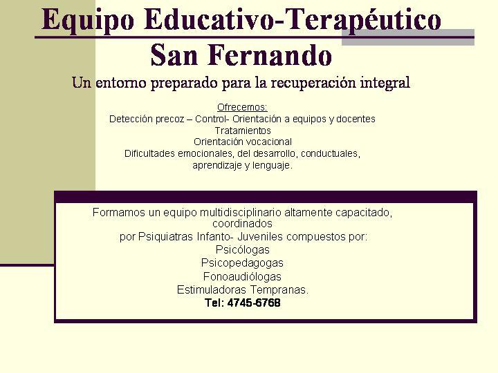 Equipo Educativo-Terapeutico